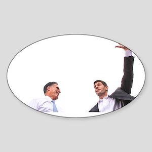 Romney Ryan Coffee Mug Sticker (Oval)