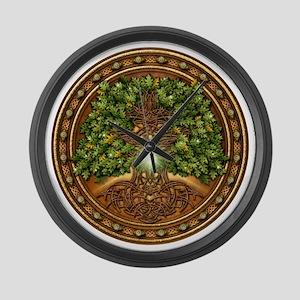 Celtic Sacred Trees - Oak Large Wall Clock