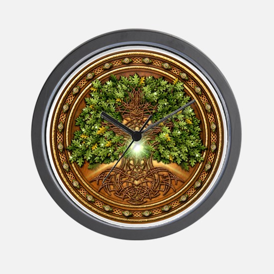 Celtic Sacred Trees - Oak Wall Clock