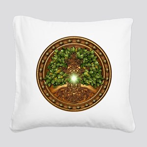 Celtic Sacred Trees - Oak Square Canvas Pillow