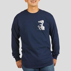 Bold Dark Velociraptor Long Sleeve Dark T-Shirt