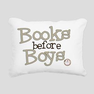 Books Before Boys Rectangular Canvas Pillow