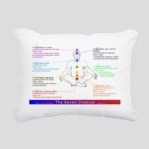7 Chakras, Rectangular Canvas Pillow