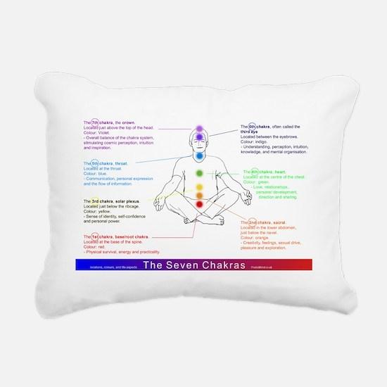 7 Chakras, Rectangular Canvas Pillow