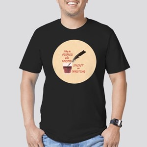 Lg Button Men's Fitted T-Shirt (dark)