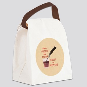 Lg Button Canvas Lunch Bag
