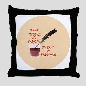 Lg Button Throw Pillow
