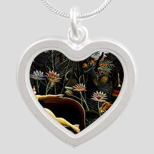 Henri Rousseau The Dream Silver Heart Necklace