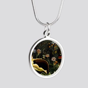 Henri Rousseau The Dream Silver Round Necklace