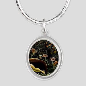 Henri Rousseau The Dream Silver Oval Necklace