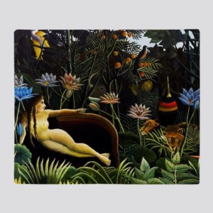 Henri Rousseau The Dream Throw Blanket