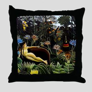 Henri Rousseau The Dream Throw Pillow