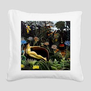 Henri Rousseau The Dream Square Canvas Pillow