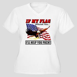offends8 Women's Plus Size V-Neck T-Shirt