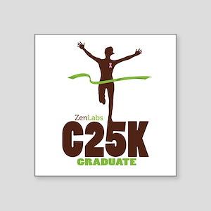 """C25K Grad (Women) Square Sticker 3"""" x 3"""""""