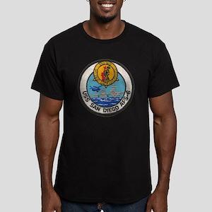uss san diego patch tr Men's Fitted T-Shirt (dark)