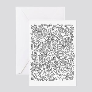 Doodle #9 Greeting Card