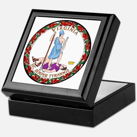 Virginia State Seal Keepsake Box