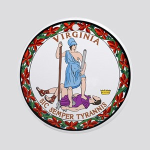 Virginia State Seal Round Ornament