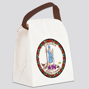 Virginia State Seal Canvas Lunch Bag