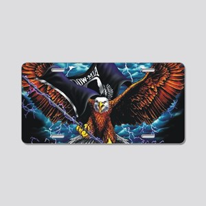 POW MIA Eagle Aluminum License Plate