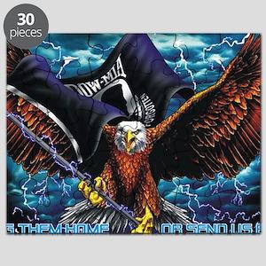 POW MIA Eagle Puzzle