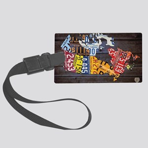 License Plate Map of Canada by D Large Luggage Tag
