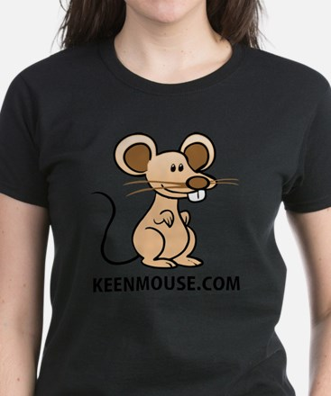 Plush Bunny Keen Mouse Mascot Women's Dark T-Shirt