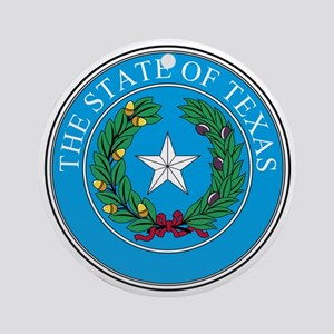 Texas State Seal Round Ornament