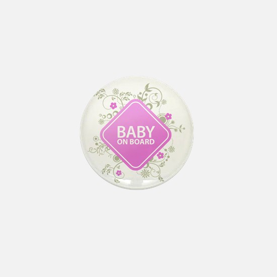 Baby on Board - Girl Mini Button