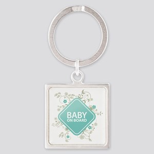 Baby on Board - Boy Square Keychain