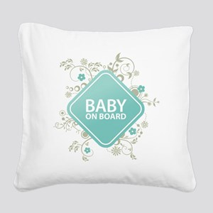 Baby on Board - Boy Square Canvas Pillow