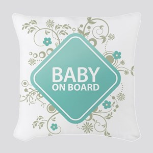 Baby on Board - Boy Woven Throw Pillow