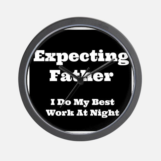 Expecting Father Wall Clock