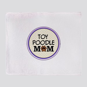 Toy Poodle Dog Mom Throw Blanket
