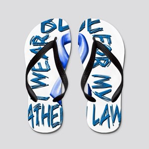I Wear Blue for my Father in Law Flip Flops