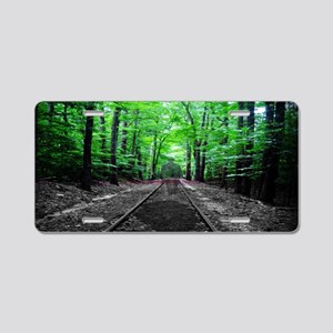 Ghostly Walk Aluminum License Plate