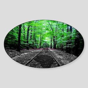 Ghostly Walk Sticker (Oval)