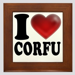 I Heart Corfu Framed Tile