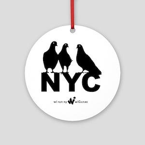 wi Run New York Round Ornament