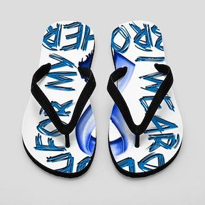 I Wear Blue for my Brother Flip Flops