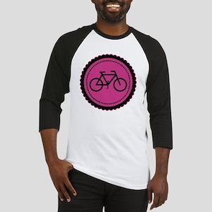 raspberry pink bike Baseball Jersey