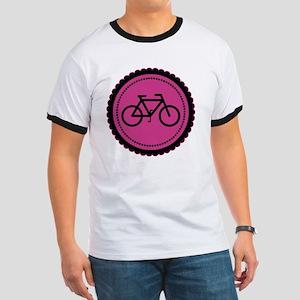 raspberry pink bike Ringer T