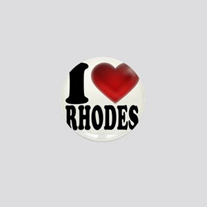 I Heart Rhodes Mini Button