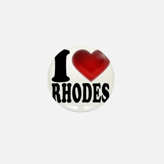 I Heart Rhodes Mini Button