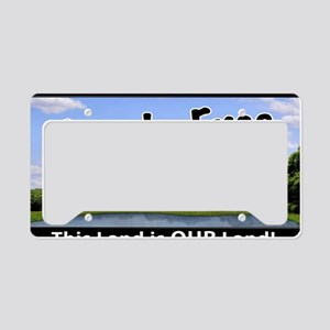 Frackfree Zone yard sign License Plate Holder