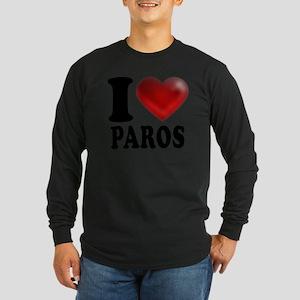 I Heart Paros Long Sleeve Dark T-Shirt