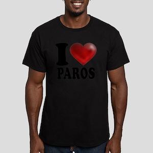 I Heart Paros Men's Fitted T-Shirt (dark)
