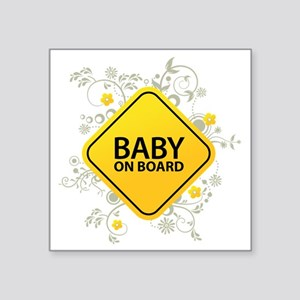 """Baby on Board - Baby Square Sticker 3"""" x 3"""""""