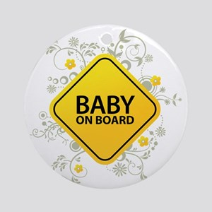 Baby on Board - Baby Round Ornament